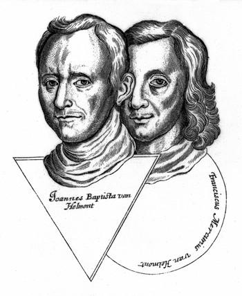 Joannes Baptiste van Helmont and Franciscus Mercurius van Helmont, 17th century.