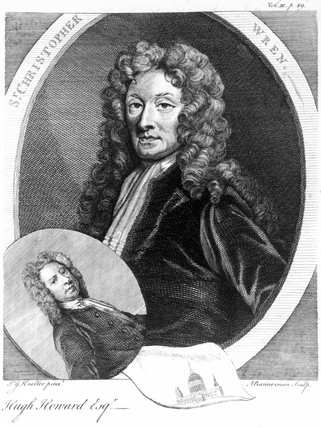 Sir Christopher Wren, English architect, c 1680.