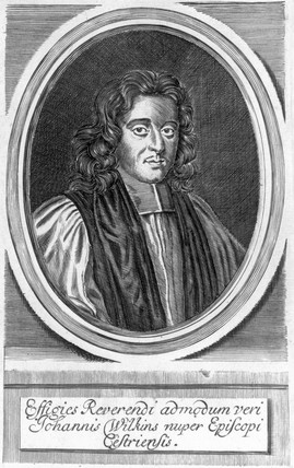 John Wilkins, English mathematician and founder of the Royal Society, c 1655.