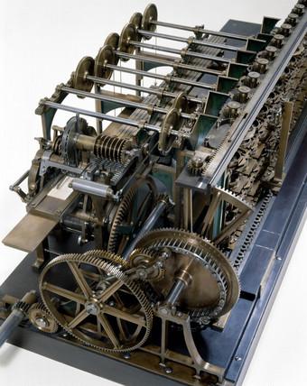 Detail of the Scheutz Difference Engine No 3, 1859.