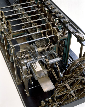 Detail of the Scheutz Difference Engine No 3, 1859.