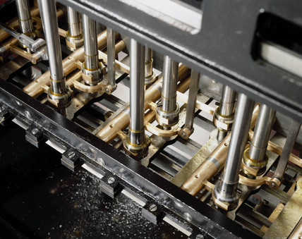 The axis drives of Babbage's difference engine No 2, 1991.
