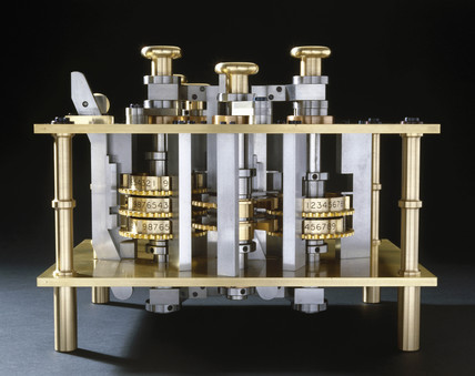 Trial piece for Babbage's Difference Engine No 2, 1985-91.