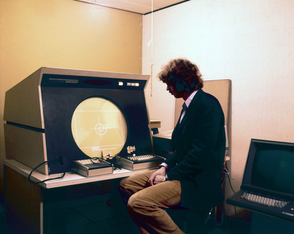 Interactive graphics terminal at Imperial College, London, 1975.