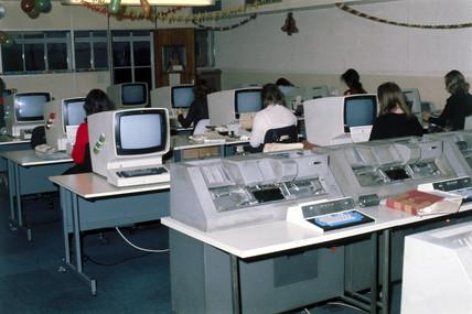 Data preparation at Mothercare, 1975.