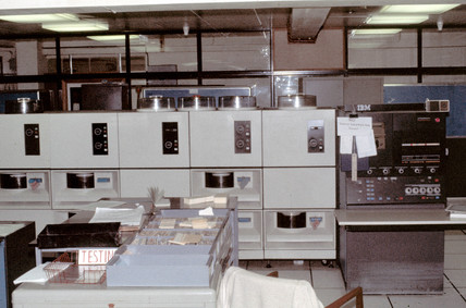 Mothercare IBM mainframe computer room, 1975