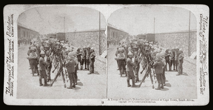 'A Troop of Britain's Defenders just arrived, Cape Town, South Africa', 1900.