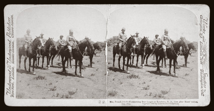 'Gen French and staff examining Boer Laager, Rensburg, South Africa', 1900.
