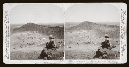 'Looking over 12th Bde Camp and Signal Hill, Slingersfontein, South Africa', 1900.