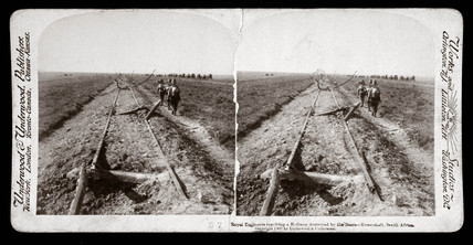 'Royal Engineers repairing a railway destroyed by Boers, South Africa', 1900.
