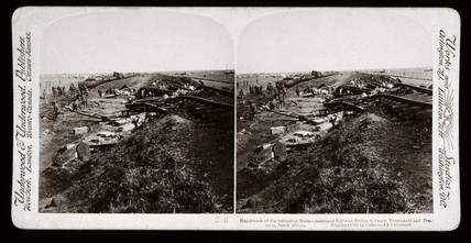 Railway bridges destroyed by the Boers, South Africa, 1900.