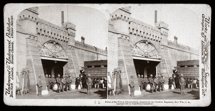 'Portal of the Fort at Johannesburg, South Africa', 1900.