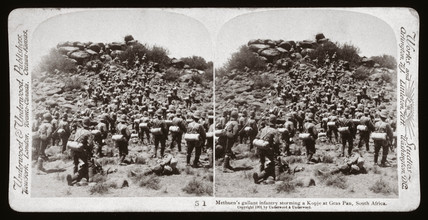 'Methuen's gallant infantry storming a Kopje at Gras Pan, South Africa', 1899.