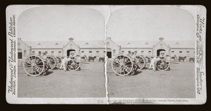 'Guns of the 75th Royal Field Artillery in Barracks, Pretoria, South Africa', 1901.