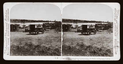 'Ambulance and Field Telegraph Station, Modder River, South Africa', 1900.