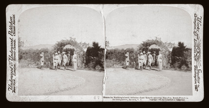 'Lord Roberts escorting Baden Powell to his headquarters, South Africa', 1900.