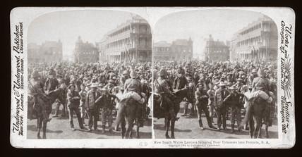 'Lancers Bringing Boer Prisoners into Pretoria, South Africa', 1901.