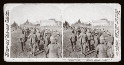 'British Prisoners released by the Boers, marching to Pretoria, South Africa', 1901.