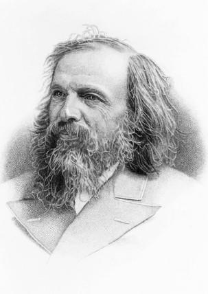 Dmitry Ivanovich Mendeleyev, Rusian chemist, c 1900.
