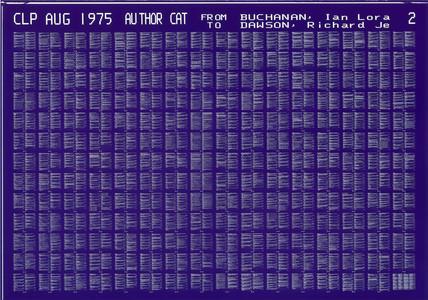 Microfiche, 1975.