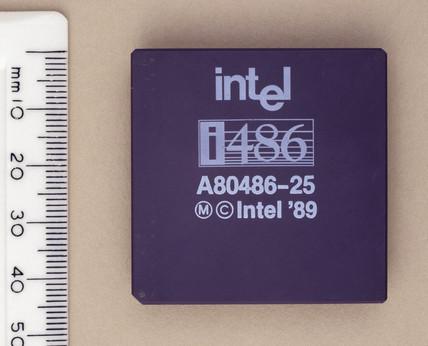 Intel 486 microprocesor, 1989.