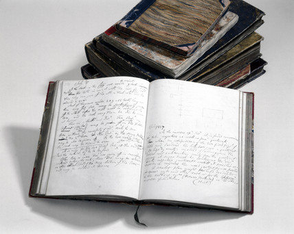 Charles Babbage's notebooks, 1857.