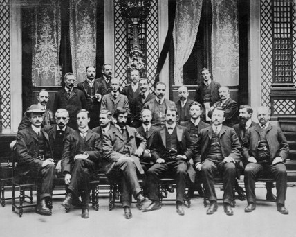 Cinema pioneers at a Paris convention, 1909.