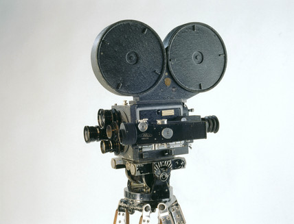 Mitchell NC 35mm camera mounted on a tripod, American, 1935.