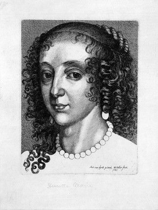 Henrietta Maria, wife of King Charles I, mid-17th century.