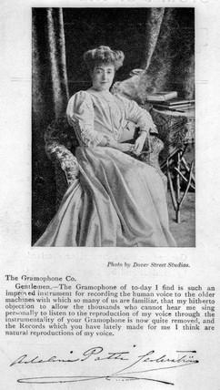 Adelina Patti, Italian-born British singer, c 1865.