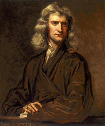 Sir Isaac Newton, English mathematician and physicist, 1689.