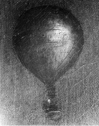 Detail from a painting of 'Mrs Sage', first lady balloonist., c 1785.