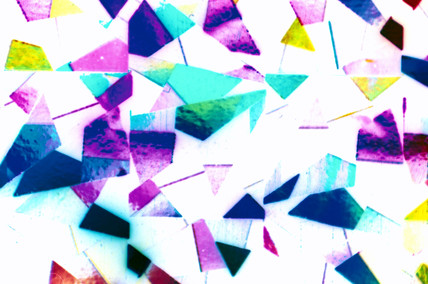 Christmas Wrapping Paper. Light Micrograph,