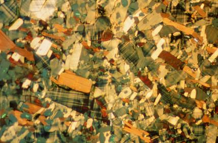 Yttrium barium copper oxide, light micrograph, 1990s.