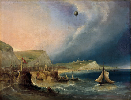 Oil painting of the first balloon crossing of the English Channel (Science Museum / Science & Society)