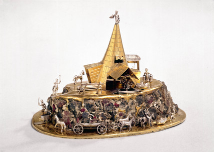 Saxon mine model, Slovakian, c 1700.