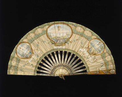 Ballooning scenes on a fan, c.1784 (Science Museum / Science & Society)