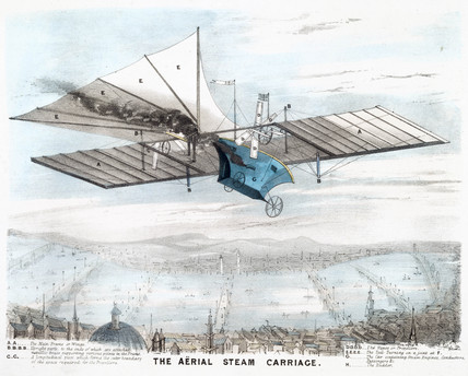 'The aerial Steam Carriage' , 1843.