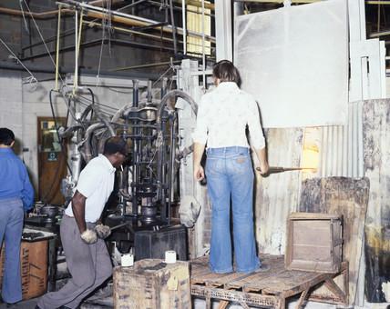 Nazeing Glasworks, c 1980.