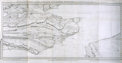 Plan of the Principal Triangulation of Britain, 1787-1790.