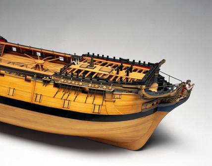 Model of a 44-gun ship, 1774-1786.