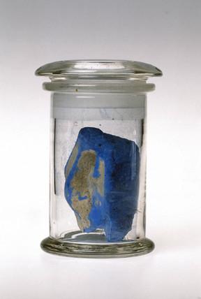 Lump of blue frit, c 1550 BC.