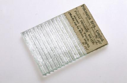 Patent prismatic rolled glas, c 1892-1930.