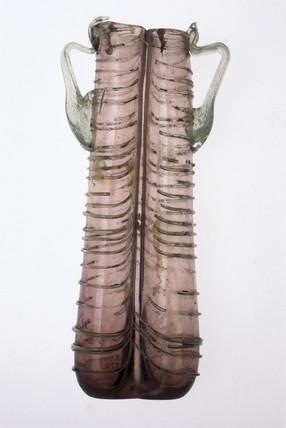 Double unguent bottle, Roman, 251-450 AD.