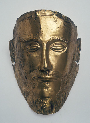 Burial mask of Agamemnon, Greek, c 1550 BC.