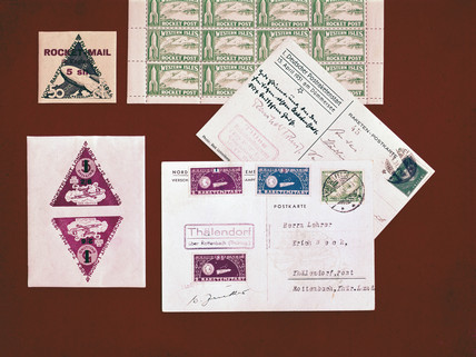 Rocket Post stamps and postcards, 1931-1934.