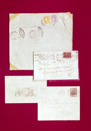 Early items of transatlantic airmail, 1919.