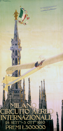 The Milan Aviation Meeting, Italy, 1910.