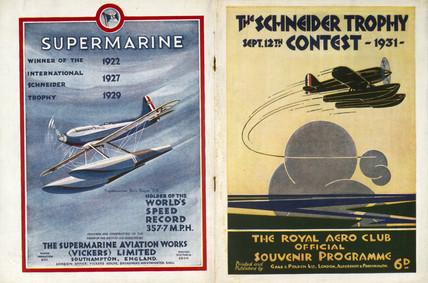 Schneider Trophy contest programme, 1931.