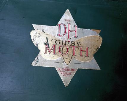 Insignia on Amy Johnson's de Havilland 60 Gipsy Moth aeroplane, 1928.